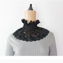 Elegant Korea 2018 Lace Fake Collar Women High Neckline Halter Detachable Collars Elastic Ruffles Accessories