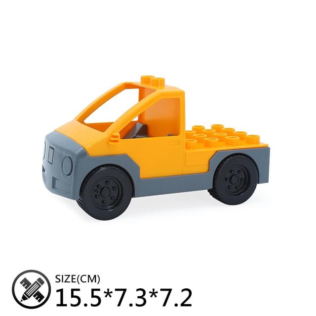Classique grands blocs de construction ville bulldozer ingénierie voiture accessoire jouets pour enfants Compatible avec Duplo ensembles cadeau danniversaire