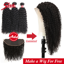 Sleek short lace front human hair wigs kinky curly lace fron