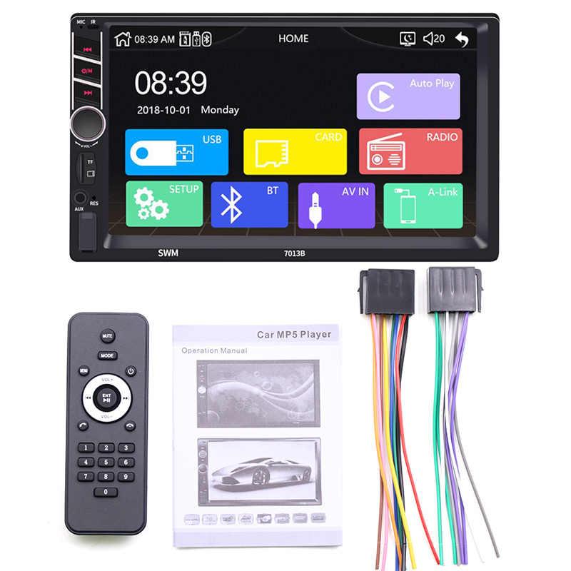 """7 """"2 Din Carplay coche Radio Bluetooth para Apple Android 8,1 espejo enlace reproductor de vídeo USB TF ISO ESTÉREO sistema de unidad central"""
