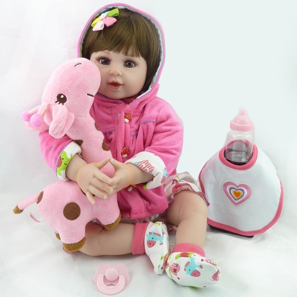 купить NPK 55cm Silicone Baby Doll Reborn Dolls Lifelike Kids Toys Simulation Beby Kids Birthday Gift AN88 по цене 4503.47 рублей