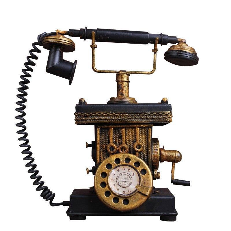 Creative Vantage MINI rétro téléphone modèle Antique Imitation nostalgie métal fer ornement artisanat Bar décor à la maison cadeau