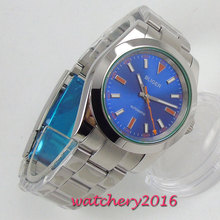 39mm Bliger Blue Dial Sapphire Glass Top Brand Luxury Automatic Movement mens Watch
