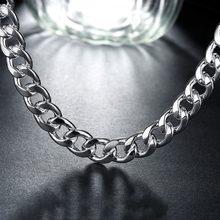 Collier classique Figaro en argent 925 pour hommes, chaîne de haute qualité, 10MM, 50cm/60cm