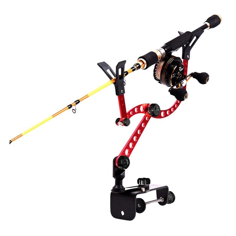 ალუმინის დისკები Raft Fishing ზღვის თევზაობა Rod Bracket Boat Fishing Pole Clamp Clip Stander Holder Fishing Tackle Tool