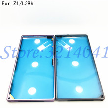 Original For Sony Xperia Z1 L39h C6903 Middle Frame Housing Bezel Metal Side Plate Replacement Part