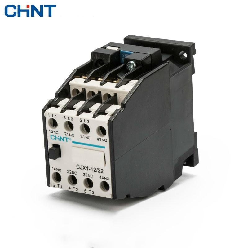 цена на CHINT AC Contactor CJX1-12/22 3TB41 Rail Mount 380v 220v 110v 36v 24v