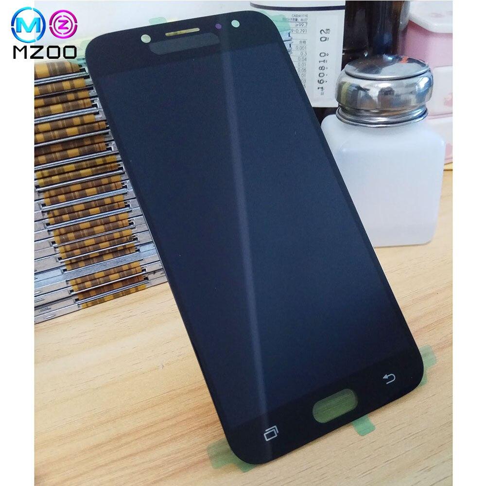 Puede ajustar el brillo LCD Tela para SAMSUNG Galaxy J7 Pro pantalla LCD Panel de pantalla táctil J730 J730F reemplazar Asamblea digitalizador A +