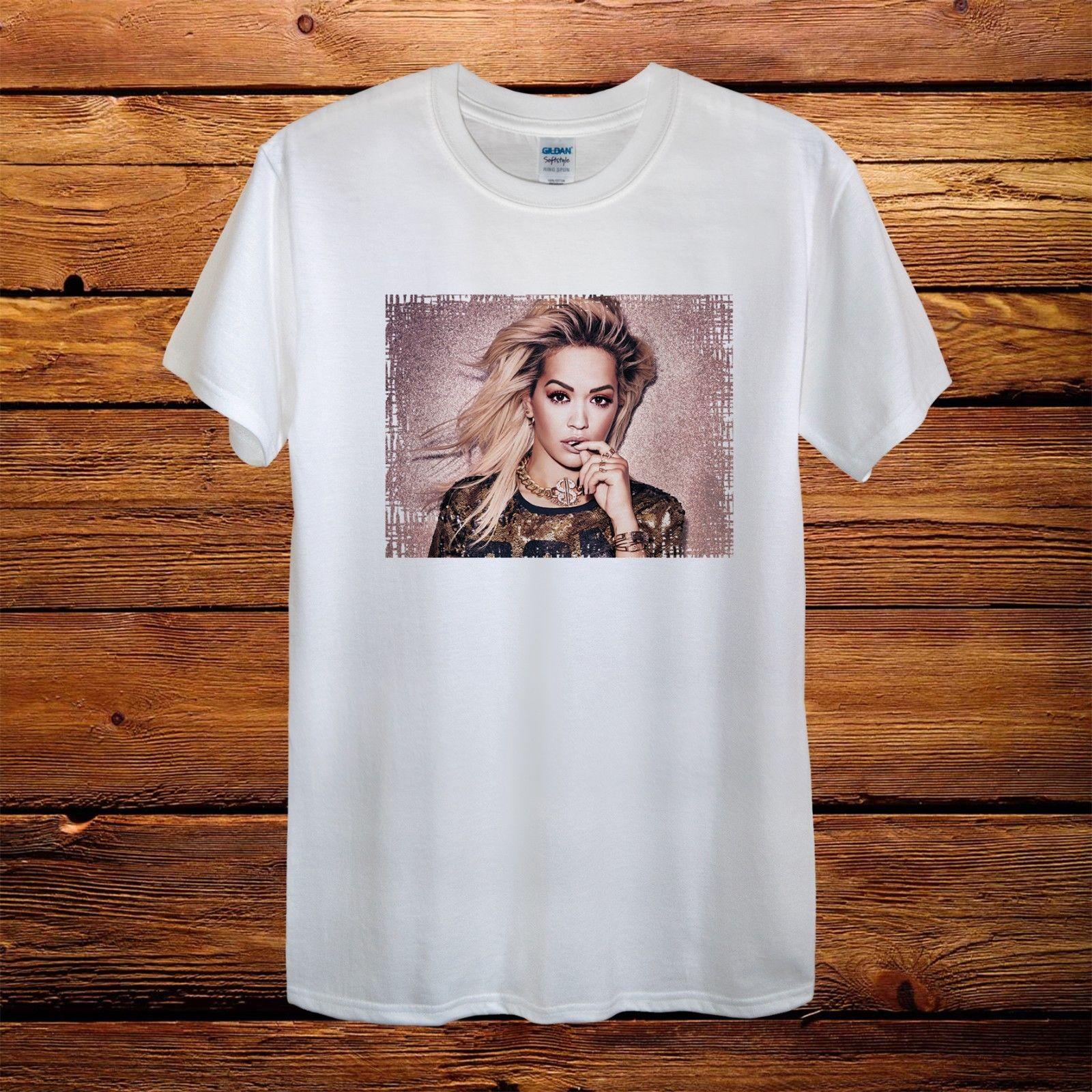 Rita Ora Signer Sexy Tour Gift Top Design T-Shirt Men Unisex Women Fitted
