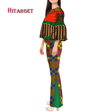2019 Autumn dashiki african Women Sets top and pants 2pcs set for women African print clothing vintage clothes WY3434