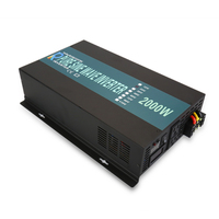 2000W Pure Sine Wave Inverter Power 24V 220V Solar Inverters Converters Power Supply Transformer 12V/48V DC to 110V/120V/240V AC