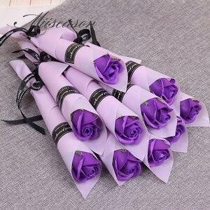 Image 5 - 30/50 шт розы мыло цветы креативные Романтические свадебные сувениры с цветочным узором для Дня Святого Валентина, подарок на день матери компании активности