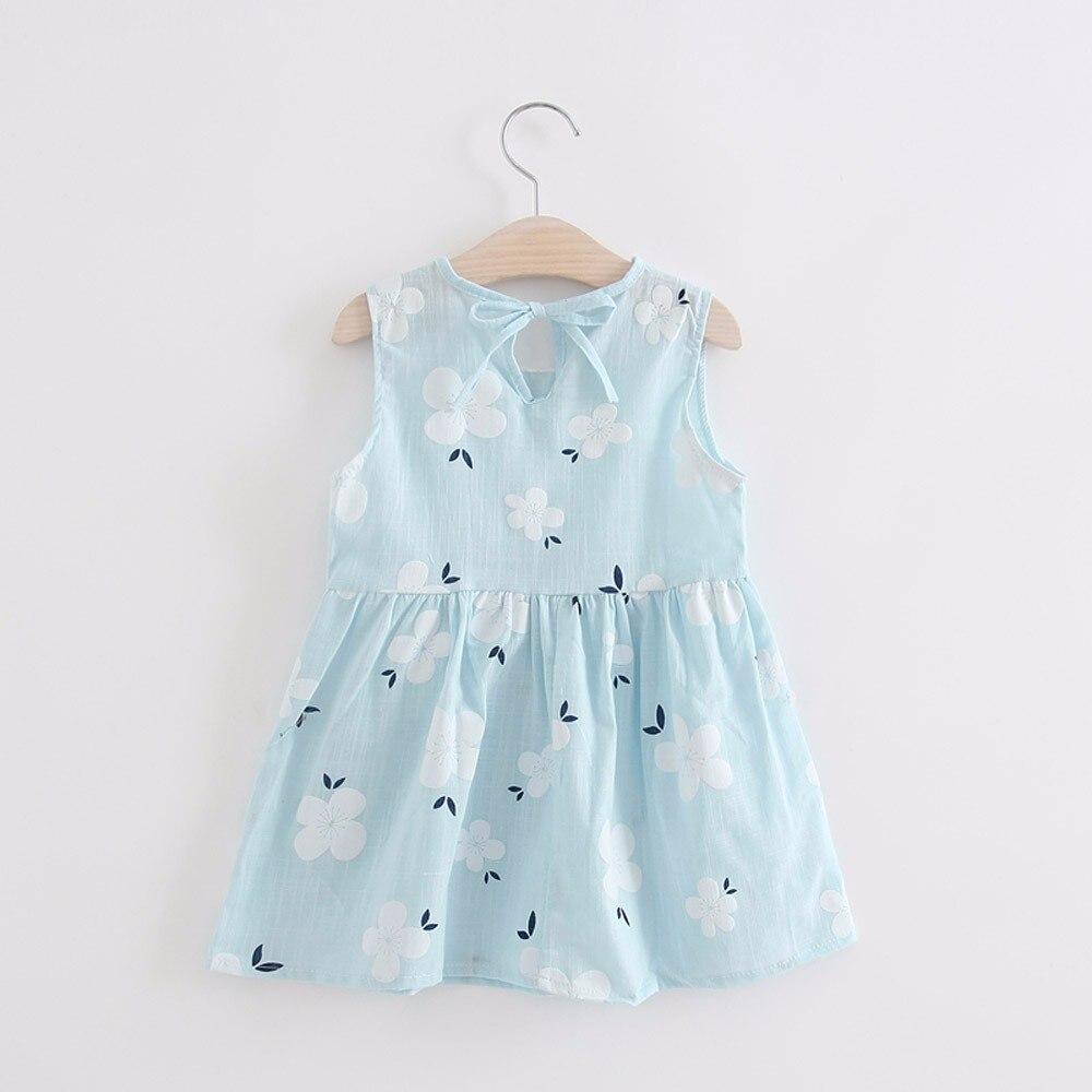 Малыш для маленьких девочек Летнее платье принцессы платье Дети Детские вечерние мини без рукавов вечерние платья vestido infantil