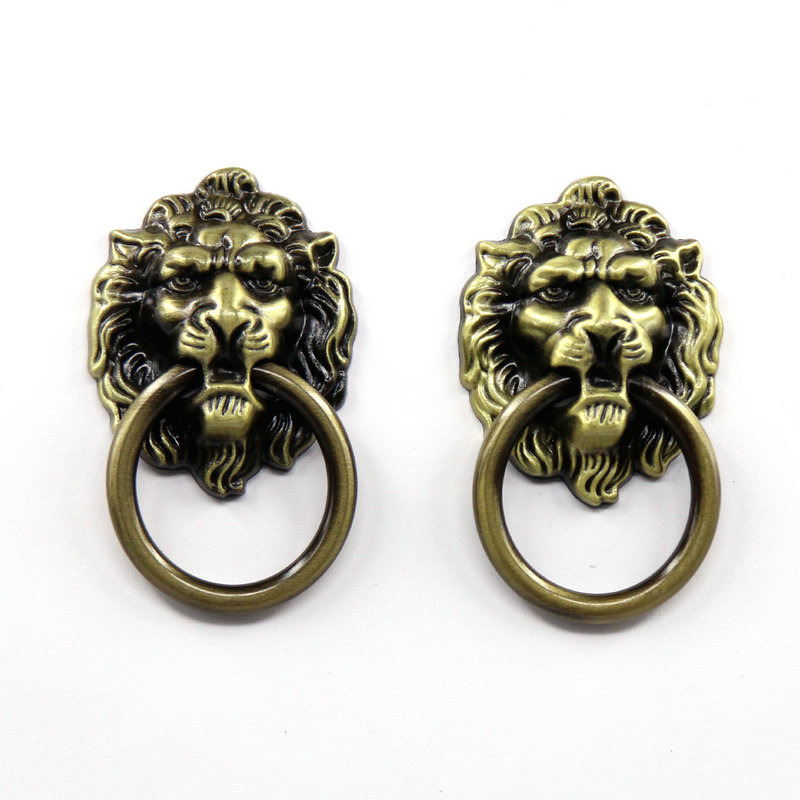 10pcs Lion Head Wardrobe Door Knobs Kitchen Cabinet Drawer Pulls