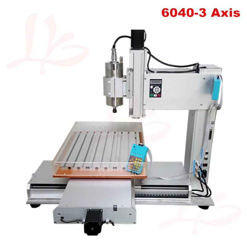 Vertical metal CNC Router 60X40 3axis 1500W spindle pillar type milling and drilling machine for metal wood glass and so on