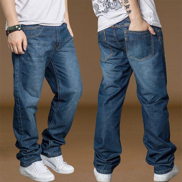 3f64ffef1a Bell Bottom Pants Men Cotton Jeans Plus Size 40 42 44 Spring Autumn Mens Wide  Leg Jeans Hip Hop Harem Loose Denim Pants For Boys