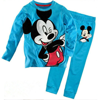 Children Girls Kids Clothing Sets Minnie Mouse Suit 2pcs Pajamas Long Sleeve Cartoon Sleepwear Girls Homewear