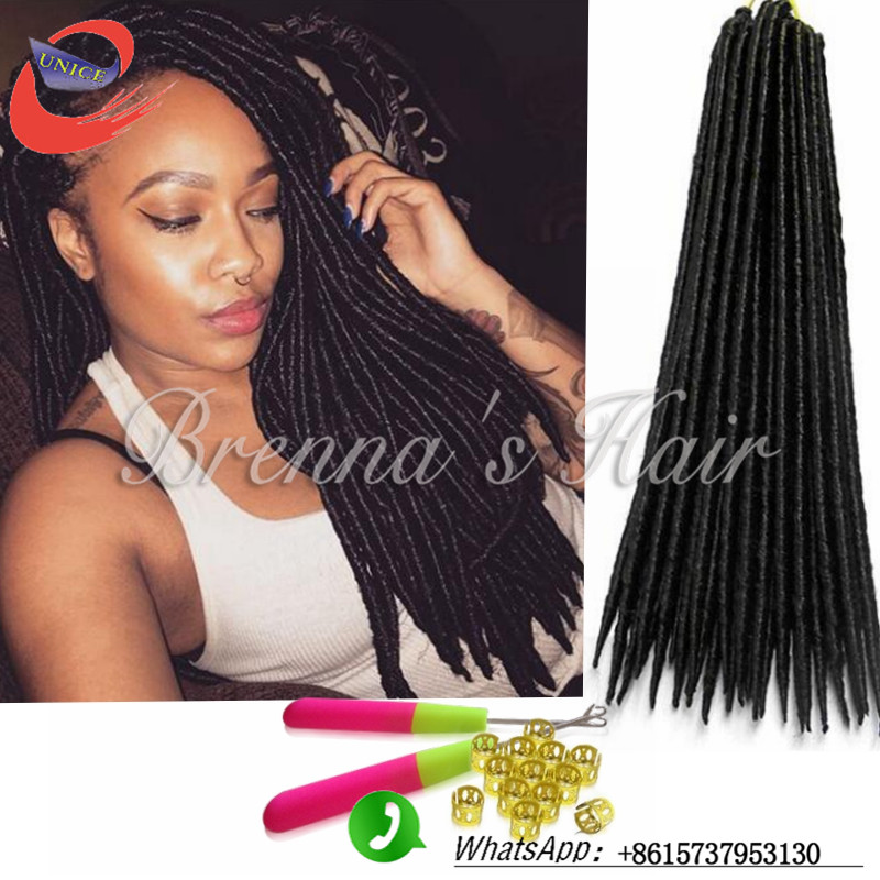 Faux Locs Freetress Crochet Braids Hair Extension Synthetic Dreads