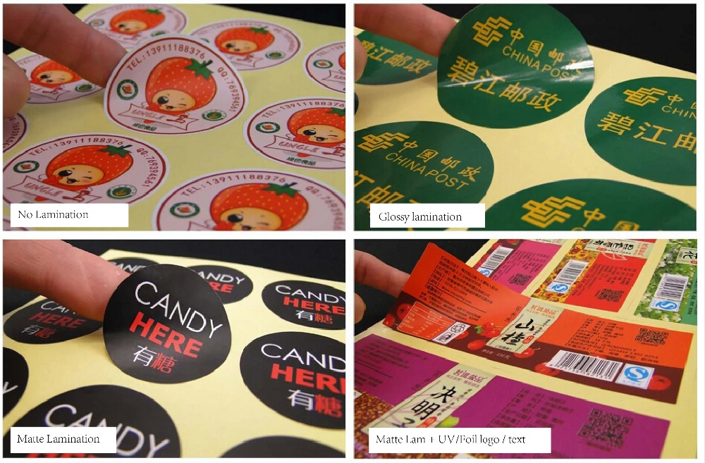 Custom Design Gloss Adhesive Paper Label  Common Packaging Stickers Printing