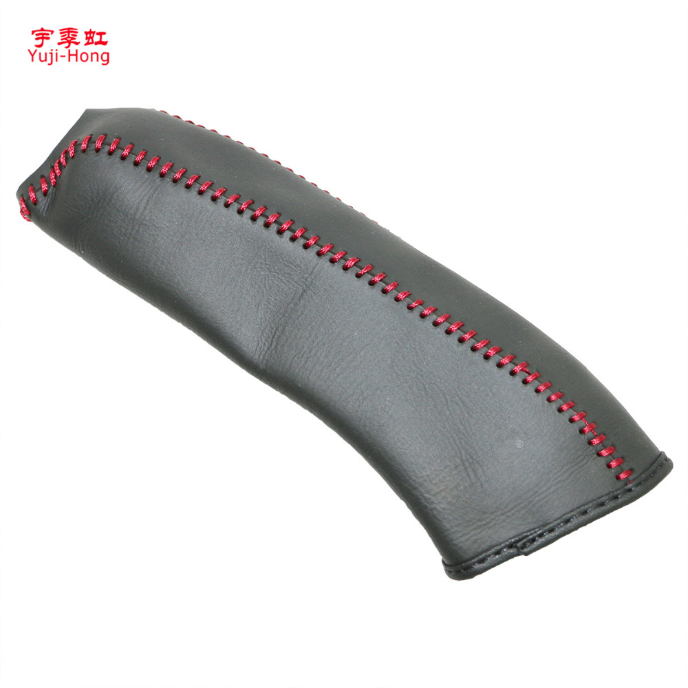 Yuji-Hong Car Handbrake Covers Case For KIA Sorento 2004-2007 Auto Handbrake Grips Genuine Leather Cover