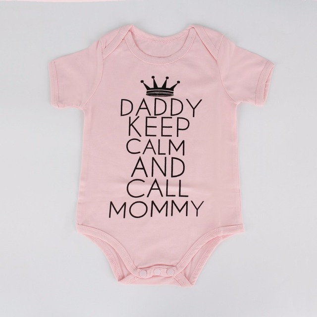Daddy Keep Calm And Call Mommy Onesie