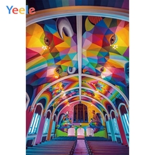 Yeele Scenery Photocall Church Interior Color Party Photography Backdrops Personalized Photographic Backgrounds For Photo Studio
