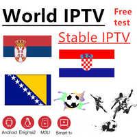 Świat IPTV bośnia chorwacja Serbia IPTV 7000 + live Free VOD wsparcie Android m3u enigma2 2000 + Vod