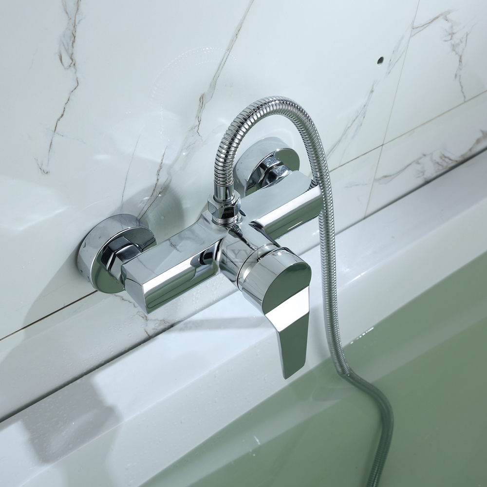 New Arrival Copper Single Handle Tub Filler Bath Shower Faucet Wall ...