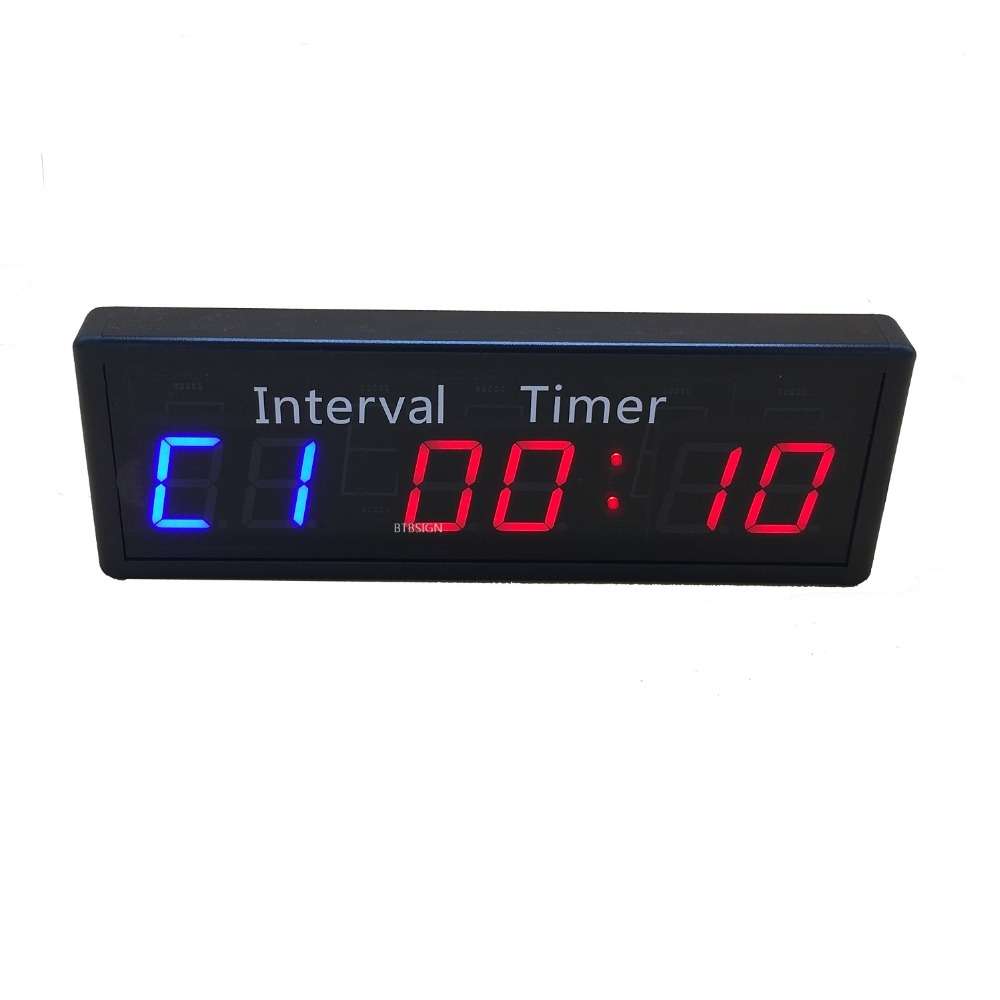 Gym Crossfit Wall Clock Fitness Stopwatch Timer Programmable LED Training Clock