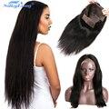 Indio Virginal Del Pelo Humano Del Frente del Cordón Pelucas Rectas Para las mujeres Negras cabello Pelucas Llenas Del Cordón Pelucas Del Pelo Humano de DHL Fedex Envío Libre