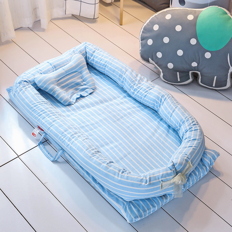 Pure Cotton Baby Nest Infant kids Bed Toddler Folding Baby Cot Portable Baby Crib Mattress Pillow Cradle For Newborn luxury portable cradle newborn baby cradle multifunctional baby bed play bed with music toy can folding 2in1 crib cotton cot