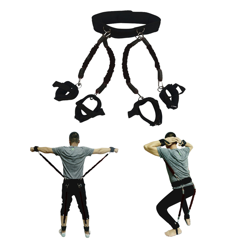 200lbs bandes de résistance boxe Fitness entraînement ceinture jambe force exercice pour 2019 ALS88