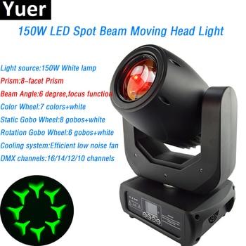 цена на 150W LED Beam Spot moving head White led Lamp prism lighthouse spot beam light effects DJ Disco Show Stage Light led par dmx512