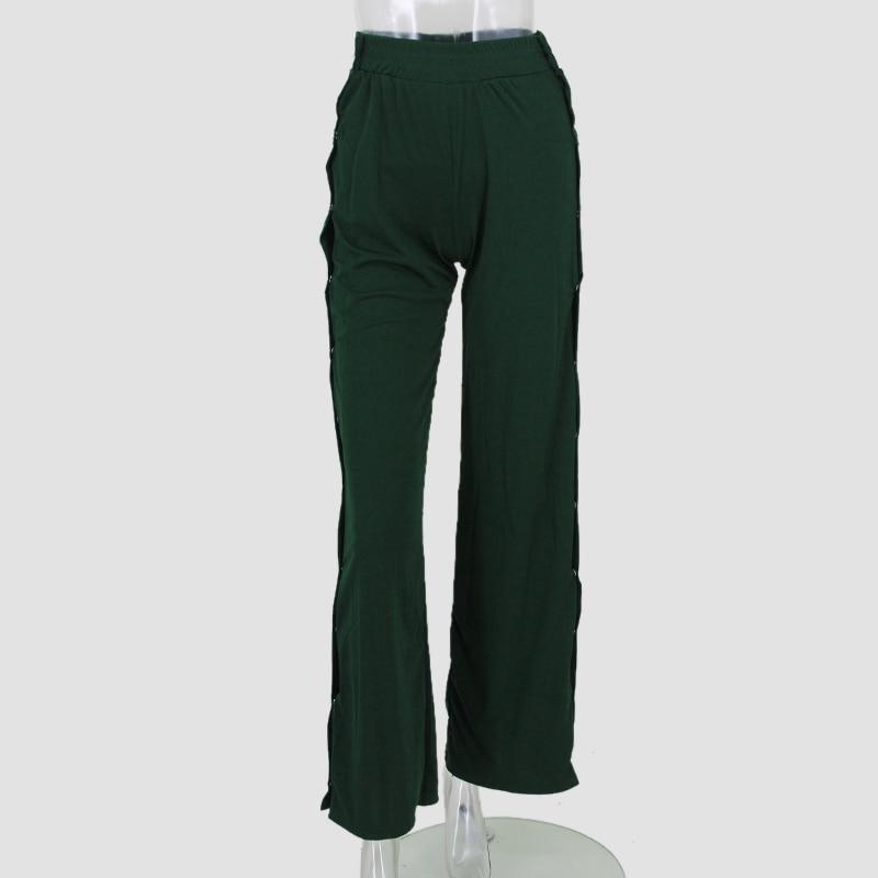 HTB1y 42SpXXXXaeXVXXq6xXFXXXx - Red button track pants runway Women's wide leg trousers casual pants JKP012