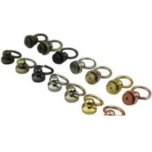 Bag lugguage accessories rivets buckle button bags Leather strap belts buckles screw rivet 10mm button O ring 500pcs/lot via DHL