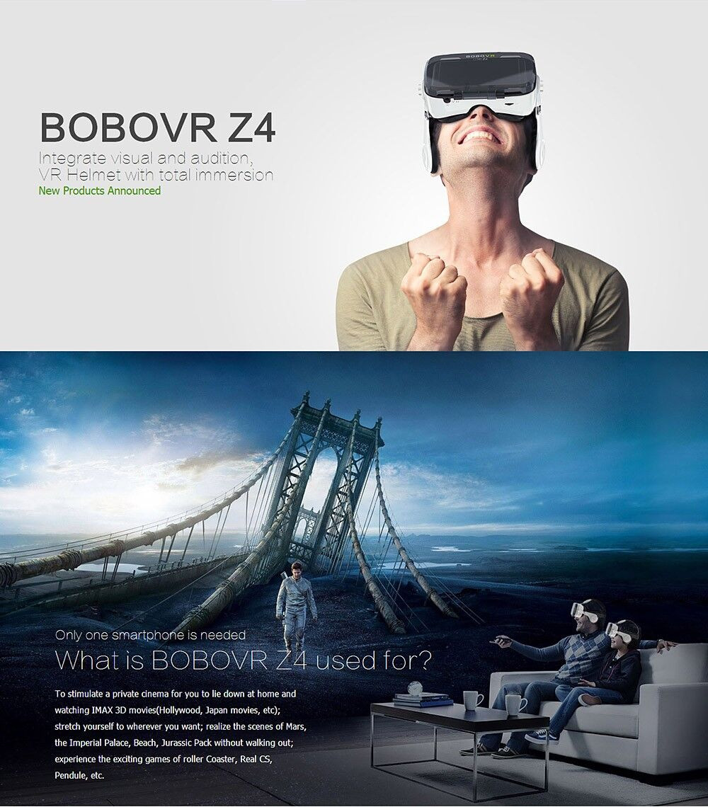 Original bobovr Z4 VR Box 2.0 Virtual Reality goggles 3D Glasses bobo vr Z4 Mini google cardboard For 4.7-6.0 inch smartphone 23
