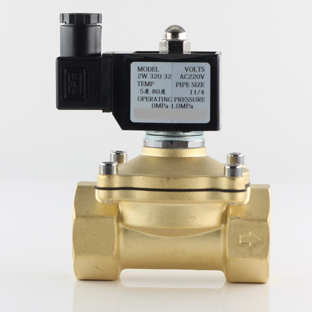 "Normally closed solenoid valve water valve, IP65 fully enclosed coil, AC220V DC12V DC24V, G3/8"" G1/2"" G3/4"" G1"" G1-1/4"" G1-1/2"" 3"