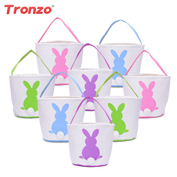 Online shop tronzo easter decorations for home bunny ear gift bags tronzo linen easter bunny ears basket bag 8pcslot mix color cartoon rabbit paking bags negle Choice Image