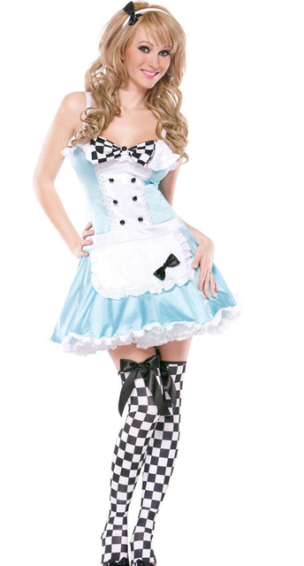 Good Sexy Alice In Wonderland Dress Party Adult Fantasia Lovely Alice Cosplay  Fancy Dress Halloween Costumes For
