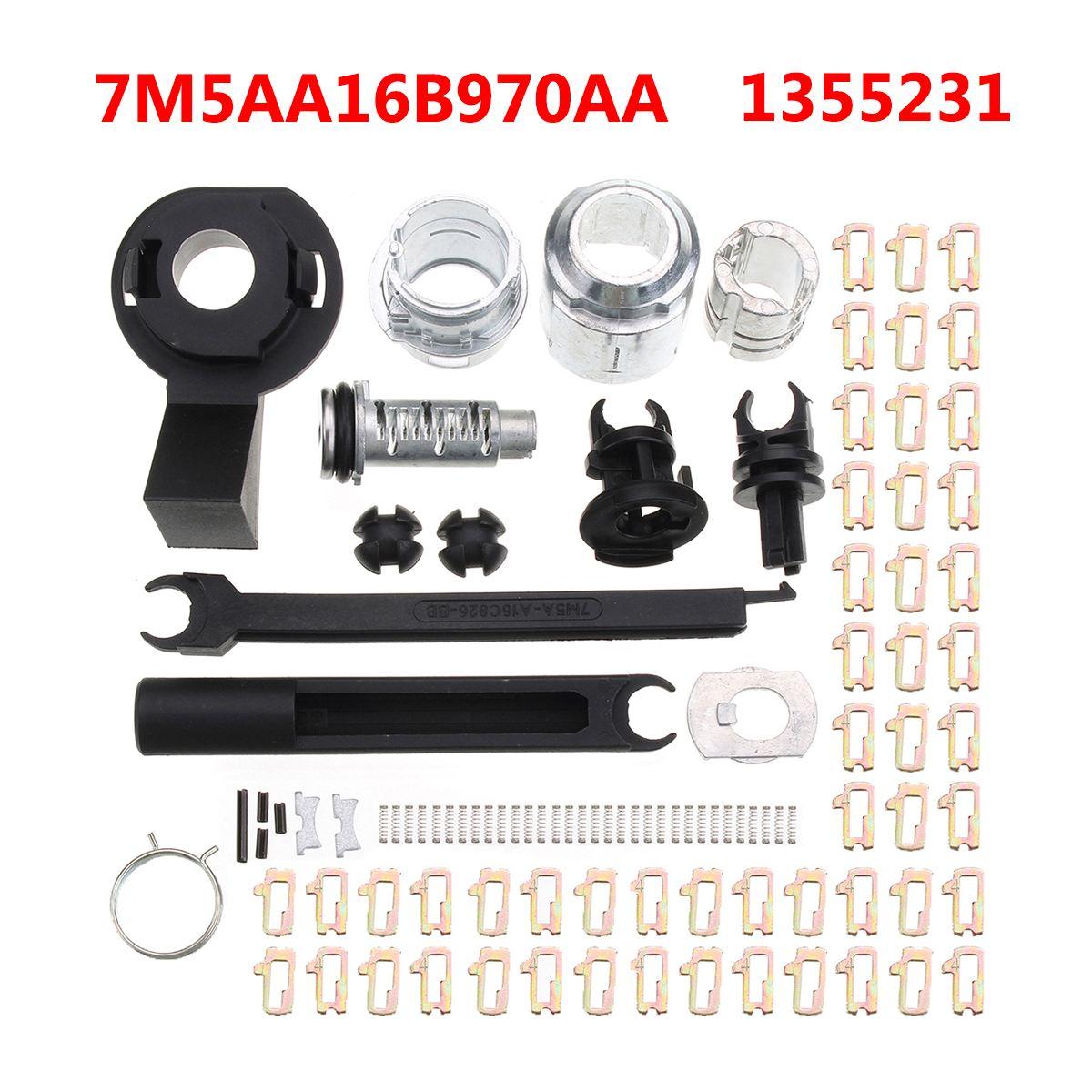 1 Set Car Bonnet Release Lock Repair Kit Latch For Ford /Focus MK2 2004-