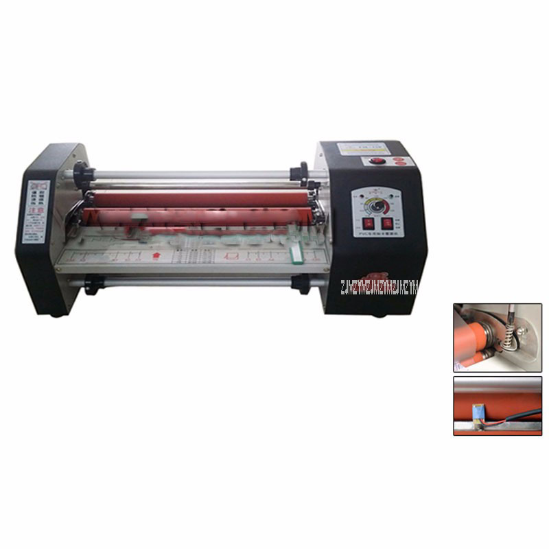 FM 480 paper laminating machine,cold and heating card laminating machine,110v 220V photo laminator