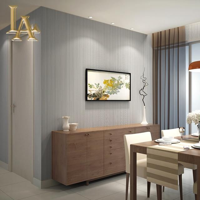Einfache Beige Braun Grau Gold Striped 3D Tapete wohnzimmer ...