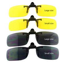 bd2acafae Condução do carro Clipe Óculos de Sol Anti-Ofuscante Máximos Anti-Reflexo  Dia Noite Luz Forte Óculos de Condução Com caso Pano d.