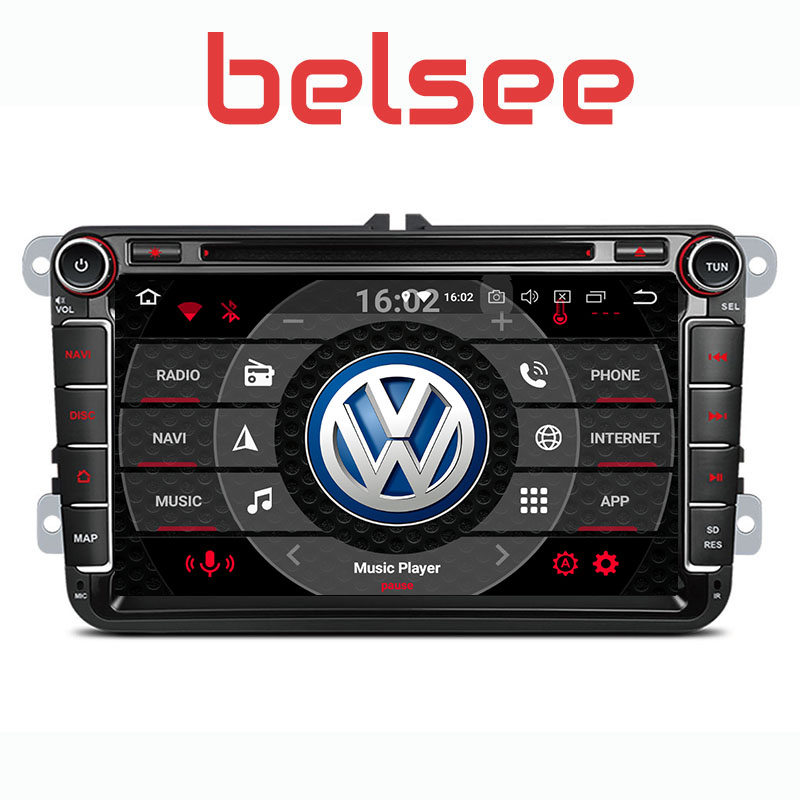 Belsee Octa Core 4 GB Ram Voiture Radio DVD Chef Unité de Navigation Multimédia forVW Volkswagen Polo Passat B6 B7 Golf 5 6 Touran Tiguan