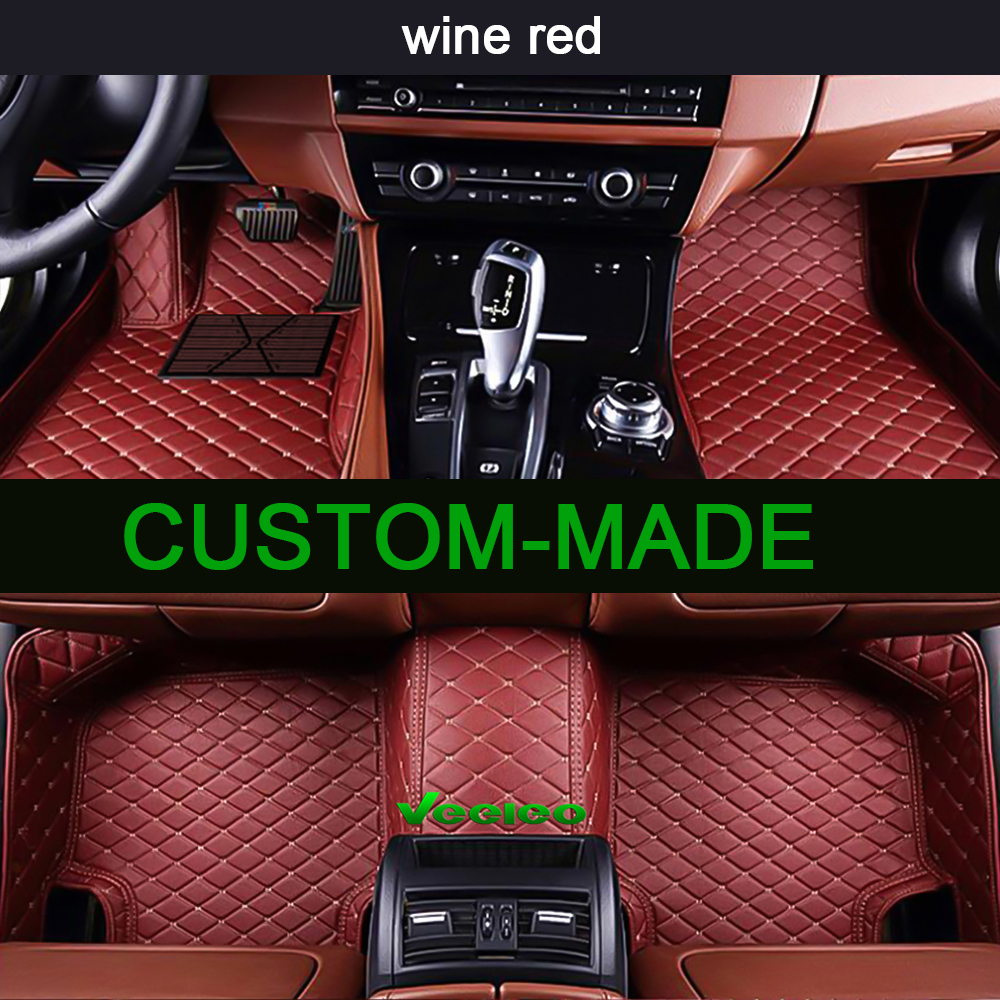 Veeleo 6 Colors Leather Car Mats For Acura TL 2004 2007