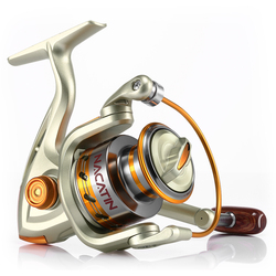 Nacatin NA1000-7000 12BB 5,2: 1 carrete de pesca giratorio de Metal para pesca de carpa de carrete de Pesca de Mar de agua dulce/salada
