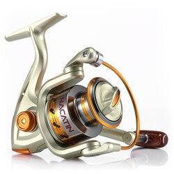 Nacatin NA1000-7000 12BB 5.2: 1 metalen Spinning Reel Fishing Fly Wiel Voor Verse/Zout Water Zee Vissen Spinning Reel Karpervissen
