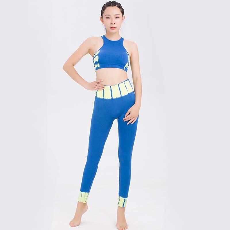Yoga costumes Sportswear femmes taille haute extensible Jogging costumes Gym serré Fitness Sport costumes Push Up soutien-gorge Leggings ensemble de course