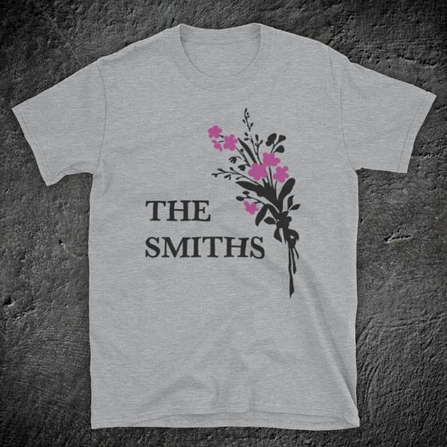 fe7f2bd81af8 Inspired By The Smiths Flowers Morrissey Marr Iconic English Rock Band  Unofficial Mens T-Shirt summer cotton man fashion t shirt