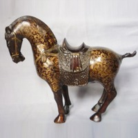 Rare and exquisite antique sculpture cloisonne statue bronze sculpture horse carving various styles free shipping.
